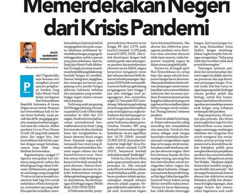 Memerdekakan Negeri dari Krisis Pandemi