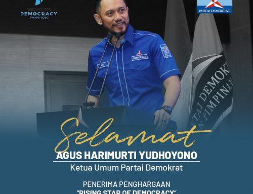 Ketum AHY dan Partai Demokrat Terima Penghargaan Teropong Democracy Award 2020