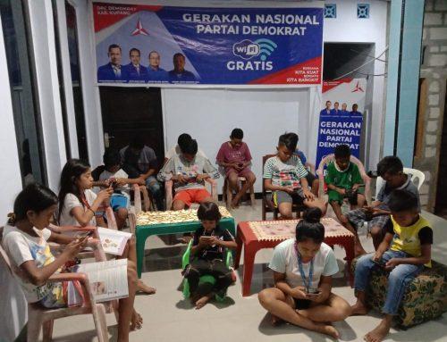 Dukung Gerakan Nasional WiFi Gratis, DPC Partai Demokrat Kabupaten Kupang Luncurkan Enam Titik Hotspot