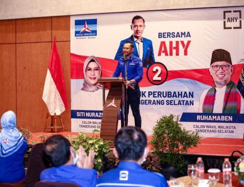 AHY dan Jajaran Partai Demokrat ke Tangsel untuk Dukung Siti Nurazizah