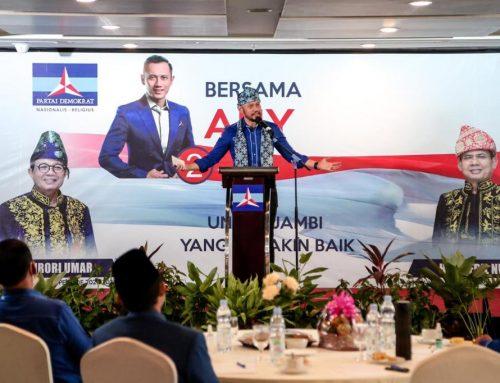 Ke Jambi, AHY Panaskan Mesin Partai Demokrat untuk Dukung Fachrori Umar-Syafril Nursal