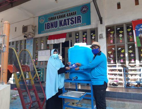 BMD Bantu Wastafel dan Masker untuk TK di Banda Aceh dan Aceh Besar