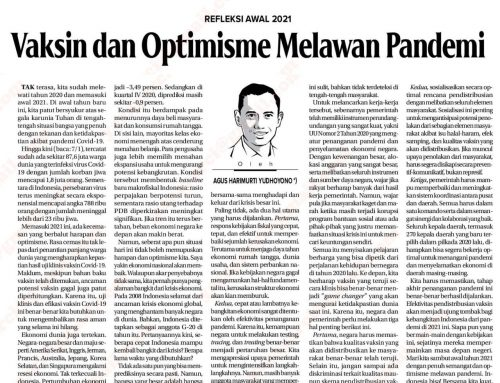 Vaksin & Optimisme Melawan Pandemi