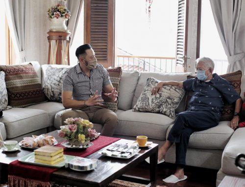 Silaturahmi Ketum AHY dan Prof Subur Budhi Santoso, Ketum PD Pertama