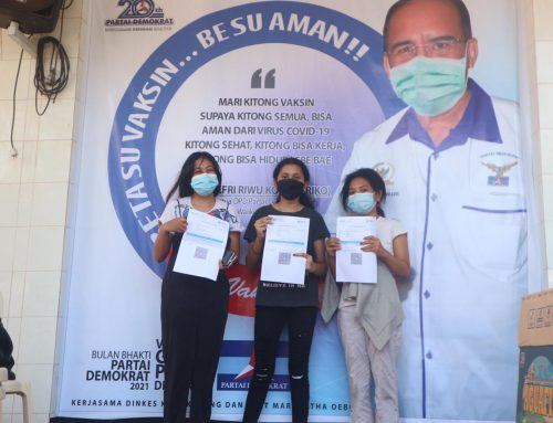 Jelang HUT ke-20 Esok, Partai Demokrat NTT Vaksin Ribuan Warga